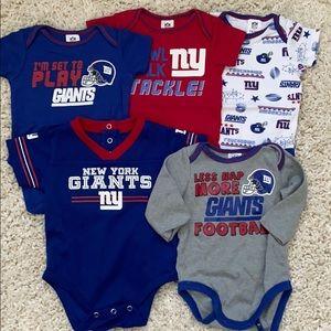 5 Giants Newborn Onesies.